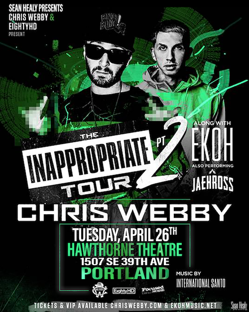 Image for *NEW DATE* Sean Healy Presents: Chris Webby - World Wide Web Tour Finale